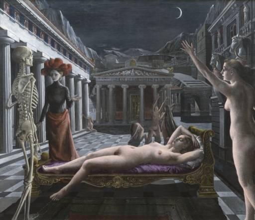 Paul Delvaux  , Venus Dormida.