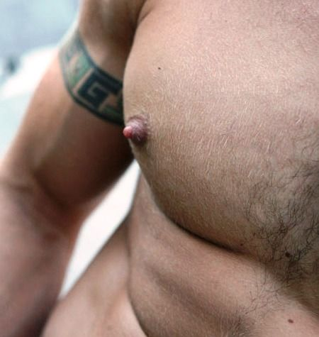 Intelligible big nipples with hairy chest