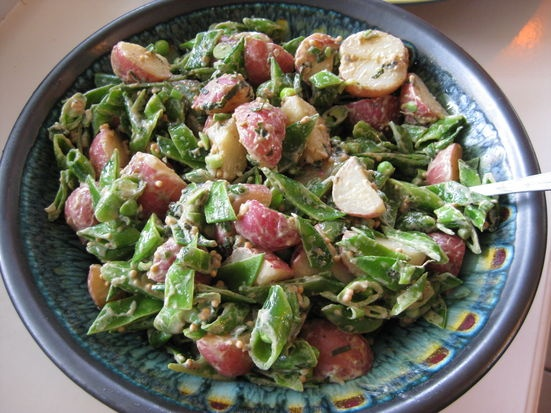 New Potato and Pea Salad with Mustard and Mint | Recipe