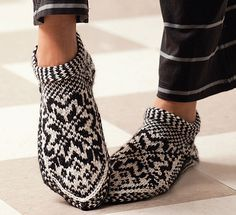 Ravelry: Norwegian Star Slippers pattern by Laura Farson