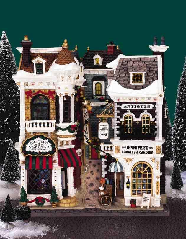 Lemax Christmas Village Facade: Village Shops