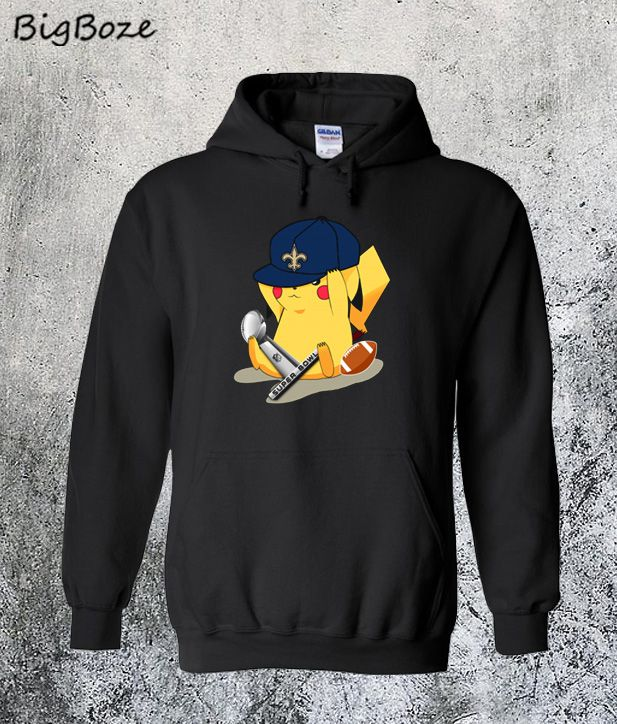 online retailer 49bc7 456e8 New Orleans Saints Pikachu Super Bowl 2019 Hoodie in 2019 ...