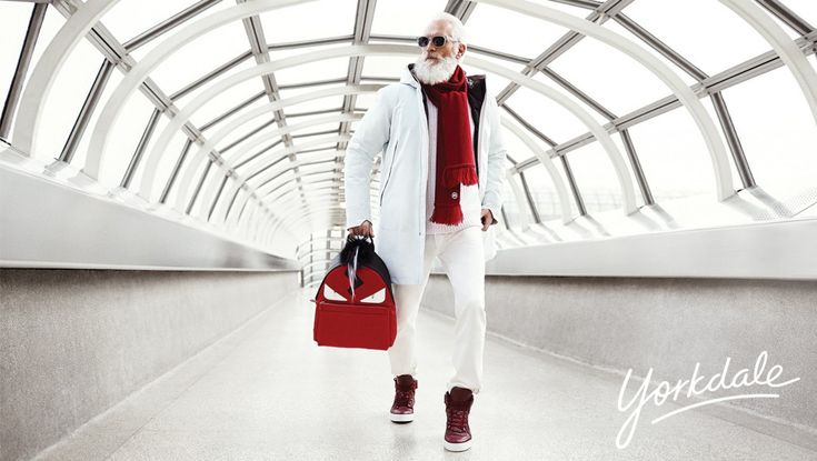 The stylish Santa is 51-year-old Toronto model Paul Mason