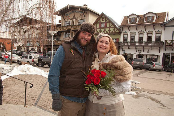 Kris & Justin's outdoorsy handmade Bavarian-style wedding