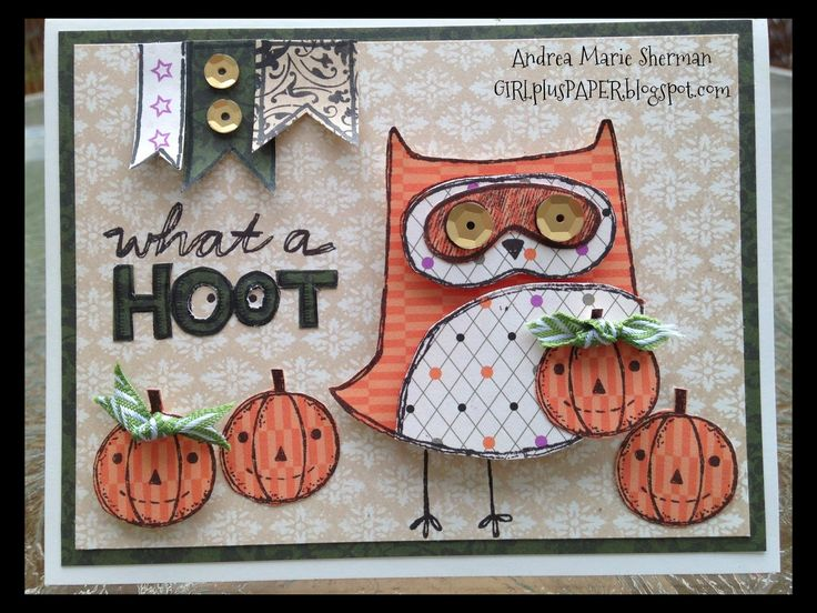 GIRLplusPAPER: CTMH What a Hoot, featuring Scaredy Cat and Yuletide paper
