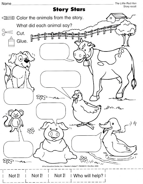 What a great worksheet from the education center. If you don't use it as a story extender, great for animal sounds!