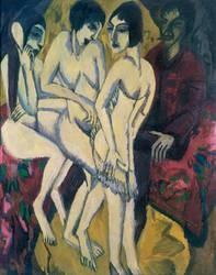 Ernst Ludwig Kirchner. Urteil des Paris, 1913. Wilhelm-Hack-Museum, ludwigshafen am Rhein