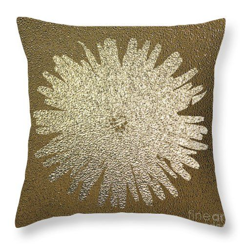 Golden Dandelion Throw Pillow by Sverre Andreas Fekjan.  Our throw pillows are…