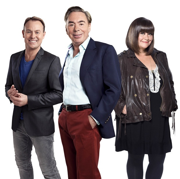 'Superstar' judges Jason Donovan, Lord Andrew Lloyd Webber and Dawn French.