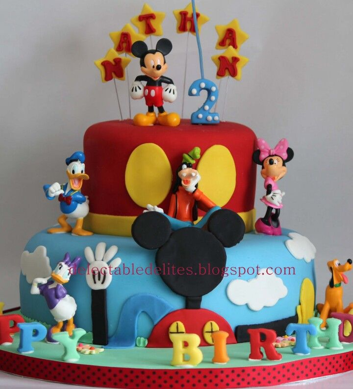 Mickey Mouse Clubhouse Birthday Cake Minnie Mickey Mouse