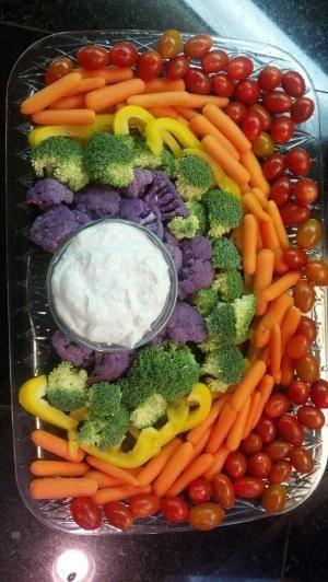 Rainbow Veggie Tray by melody