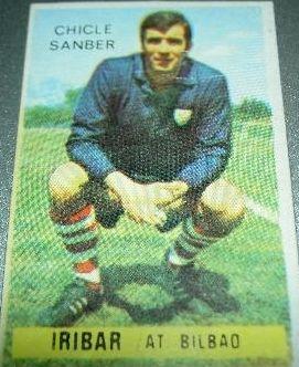 Iríbar. 1974-75. Athletic Club de Bilbao. Chicle Sanber.