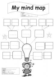 English teaching worksheets: Mind map                                                                                                                                                                                 More