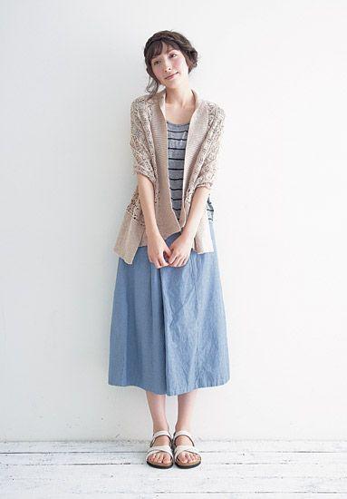 Eerbare kleding in de Japanse bosmeisjestijl.  Modest clothing in Japanese Mori Girl Style.