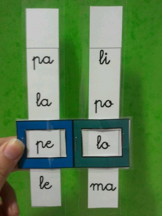 INICIO LECTOESCRITURA: Formación de palabras con dos sílabas