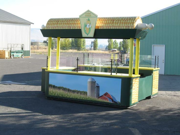 Corn on the Cob Kiosk Carriage Works manufacture and designer of Food Carts, Tropical Carts, Kiosks, Coca Cola Carts, Amusment Parks Carts, Six Flags Carts, Sea World Carts, Legoland Carts, Vending Carts for Malls and Casinos.In buisness over 40 years!