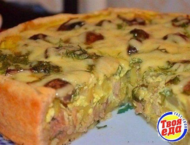 Вкусный пирог с курицей и картофелем - Кулинарные рецепты