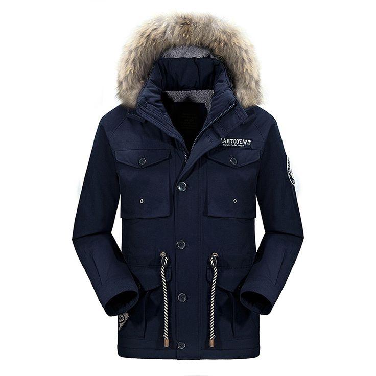 >> Click to Buy << New Mens Fur Collar winter cotton pocket Warm Hat Parkas brand coat jaqueta masculina acolchoada chaqueta invierno hombre #Affiliate