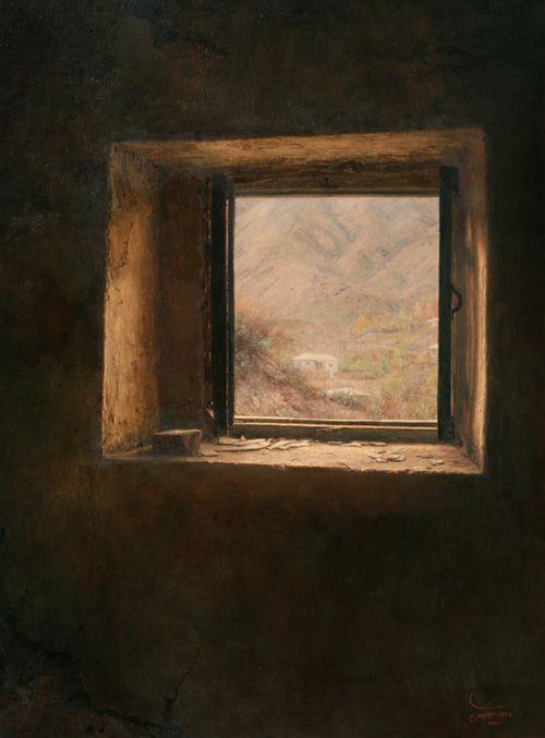 The Window, Iman Maleki, Oil On Canvas, 80 × 60Cm, 2006