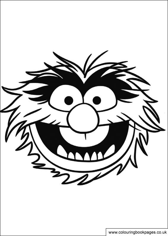 12 Muppet colouring pages including
