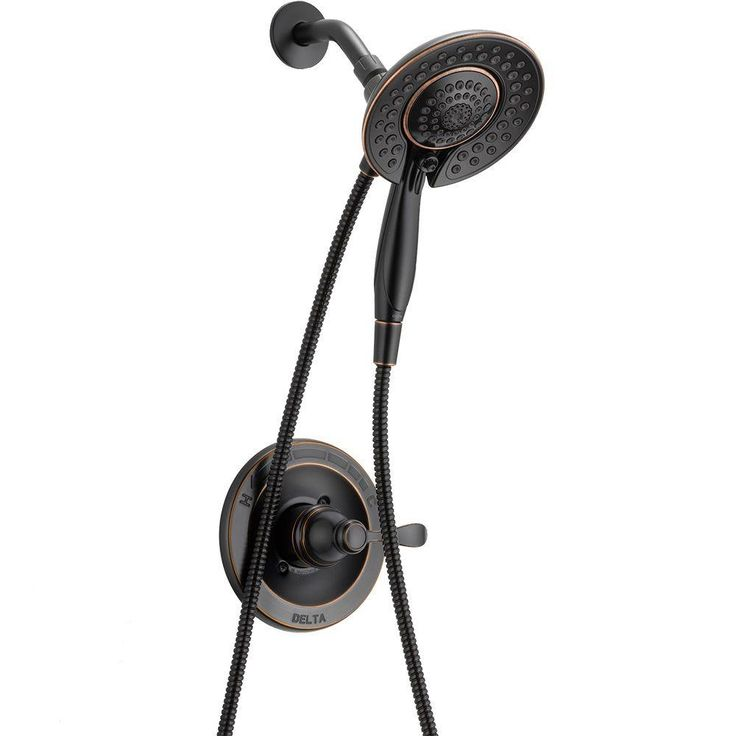 Delta Porter In2ition 5-Spray Hand Shower and Shower Head Combo Kit in Oil Rubbed Bronze-142984-OB-I - The Home Depot