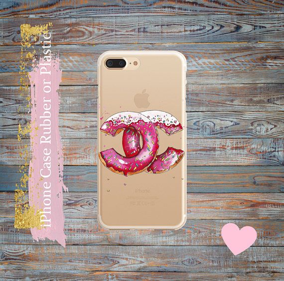 iPhone 7 Plus case Donuts Chanel  iPhone 7 clear case iPhone