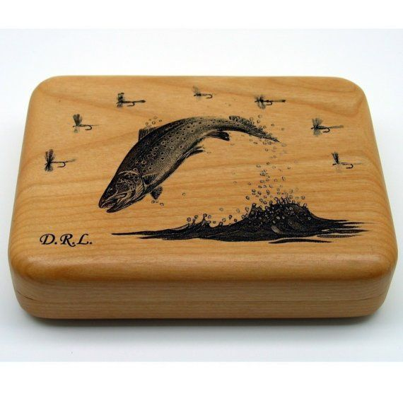 This engraved wooden box look pretty stunning and would make a lovely Father's Day present for Dads who enjoy fishing. If you want something similar that doesn't break the bank, you could try to make it yourself! Get our plain wooden box and decorate it! You can get it engraved too! More DIY ideas at www.craftmill.co.uk