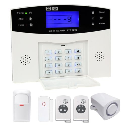 [$40.64] YA-500-GSM 6 in 1 Kit Wireless 315MHz GSM SMS Security Home House Burglar Alarm System with LCD Screen,