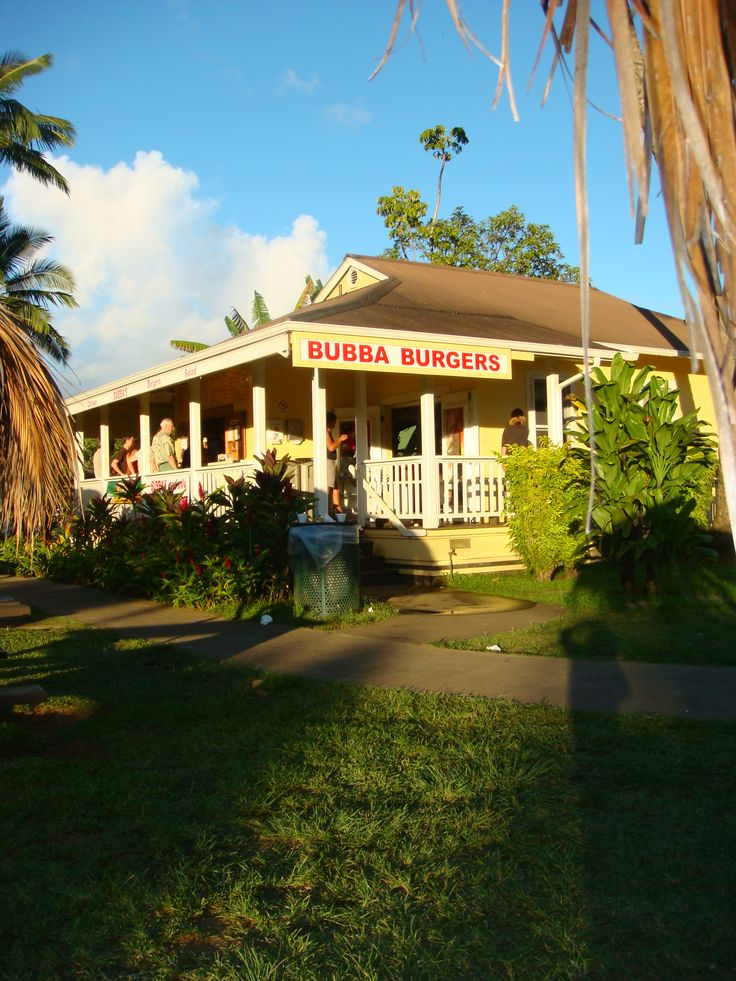 Bubba Burger, Hanalei Kauai  I love the pineapple on the hamburgers, We are here every time we went up north.