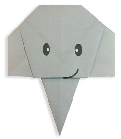 Easy Origami For Kids.: Elephant(face)