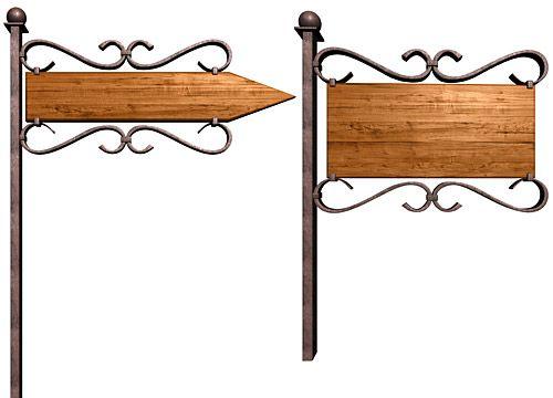 鉄と木の看板