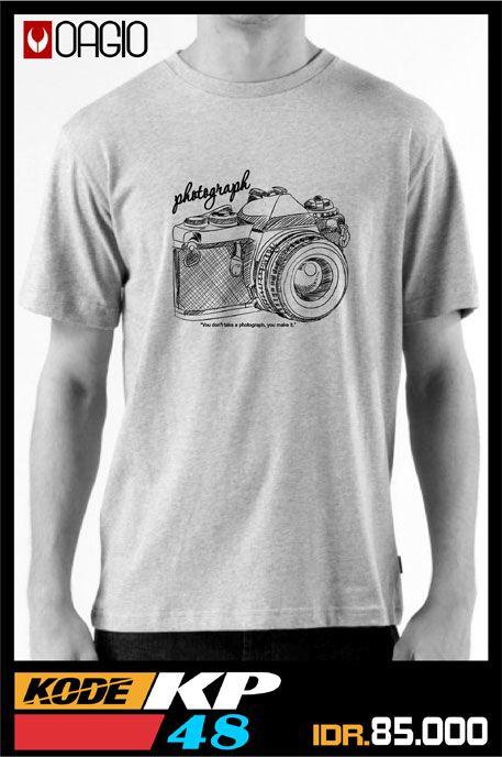 #kaosdistro #kaosdistrobandung #kaosfotografi Kaos distro Bandung murah dari bahan berkualitas bagus yaitu katun misty warna abu, tersedia dalam 3 ukuran yaitu M, L, dan XL, dengan gambar kamera didepan