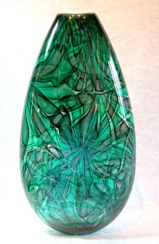 'Flower Vase', Artist: Bob Crooks, beautiful Art Glass vases in a wide range of colours, shapes and sizes