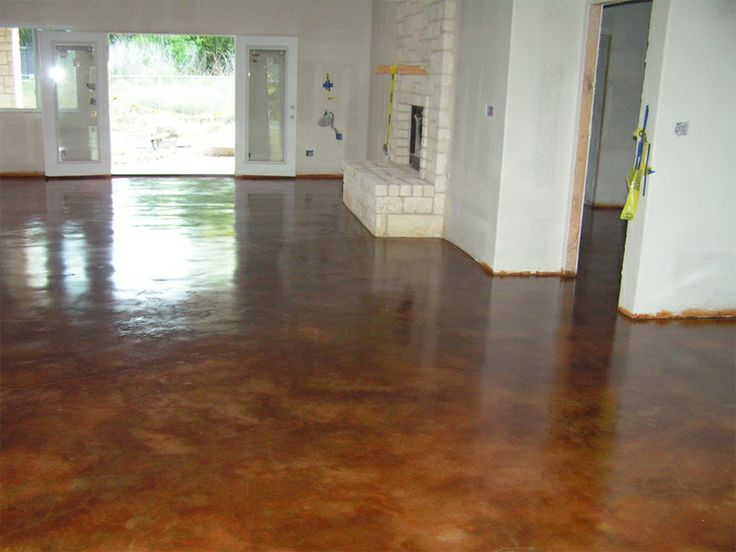 Stained concrete floor home design pinterest for Concrete floors in homes