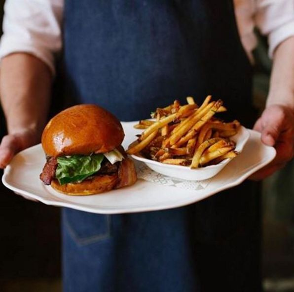 Introducing the @nicoosteria burger. It tastes even better than it looks.