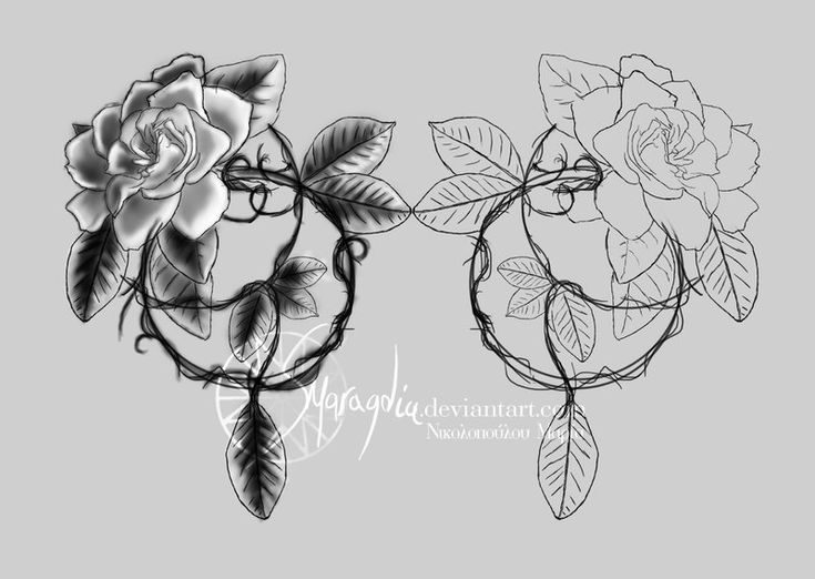 gardenia tattoo design, you could even add a dream catcher on to the end..