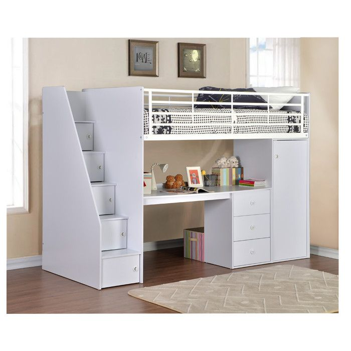 Flintshire Furniture Dakota Single High Sleeper Bed with Workstation & Reviews | Wayfair.co.uk