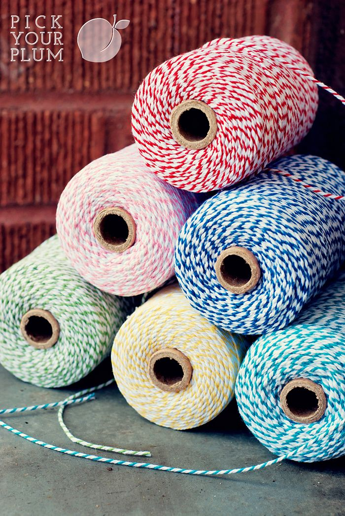 Shut UP! 10 strand twine in 6 yummy colors for only $4.99 a role!