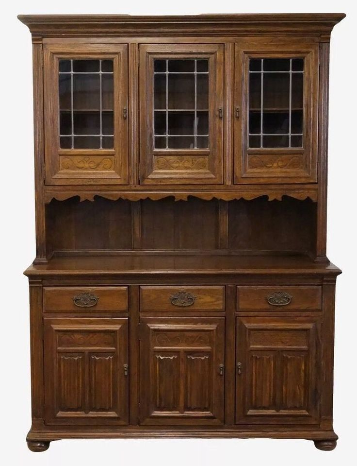 Ethan Allen Royal Charter China Hutch Cabinet English Oak 2 Available | eBay