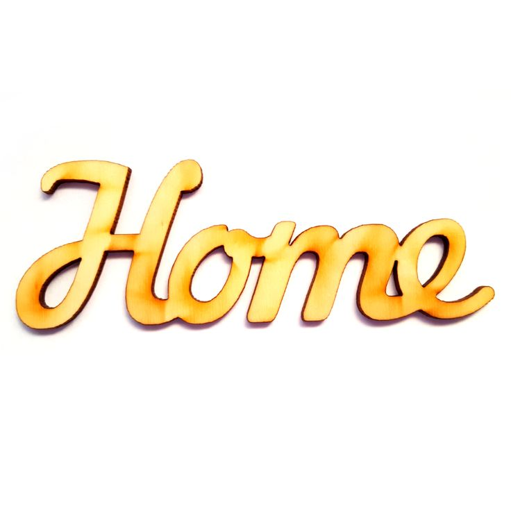Fa felirat HOME 12cm x 4cm - Fatáblák, fa feliratok - KHSHOP.HU - A Kreatív Hobby webáruház