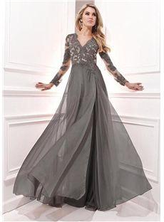 140.19 newbridalup.com SUPPLIES Vintage Full-Length Appliques V-Neck Neckline Floor-length A-Line Evening Dress