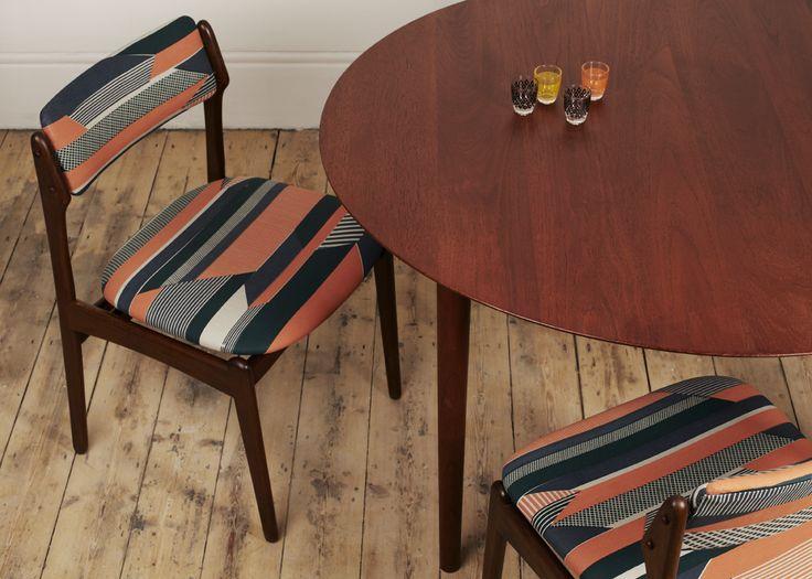 Tamasyn Gambell | Hand-printed Linen | Vintage Furniture