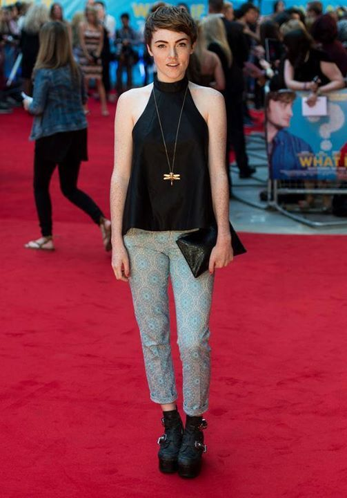 """Chlöe Howl at the """"Wath If"""" premiere."""