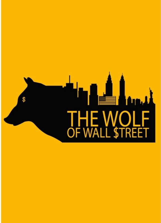The Wolf of Wall Street (2013) ~ Minimal Movie Poster by David Peacock #amusementphile