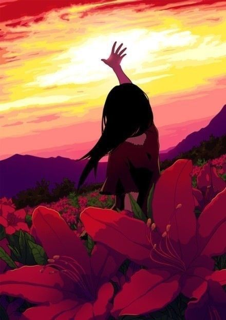 """i admire the """"sunset in the field"""" artwork so much. so much respect."""