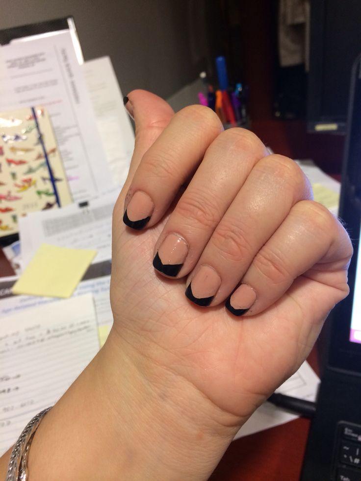 Angled black tips