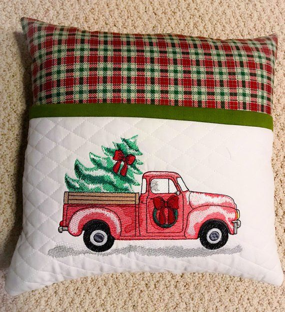 Red Christmas Truck With Christmas Tree Embroidery Design Etsy Christmas Tree Embroidery Design Christmas Truck Machine Embroidery Projects
