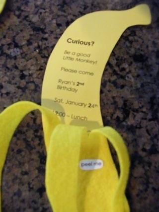Bananen-Einladung