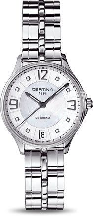 Certina Watch DS Dream Quartz #bezel-fixed #bracelet-strap-steel #brand-certina #case-material-steel #case-width-30-5mm #classic #date-yes #delivery-timescale-7-10-days #dial-colour-white #gender-ladies #movement-quartz-battery #official-stockist-for-certina-watches #packaging-certina-watch-packaging #style-dress #subcat-ds-dream #supplier-model-no-c021-210-11-116-00 #warranty-certina-official-2-year-guarantee #water-resistant-100m