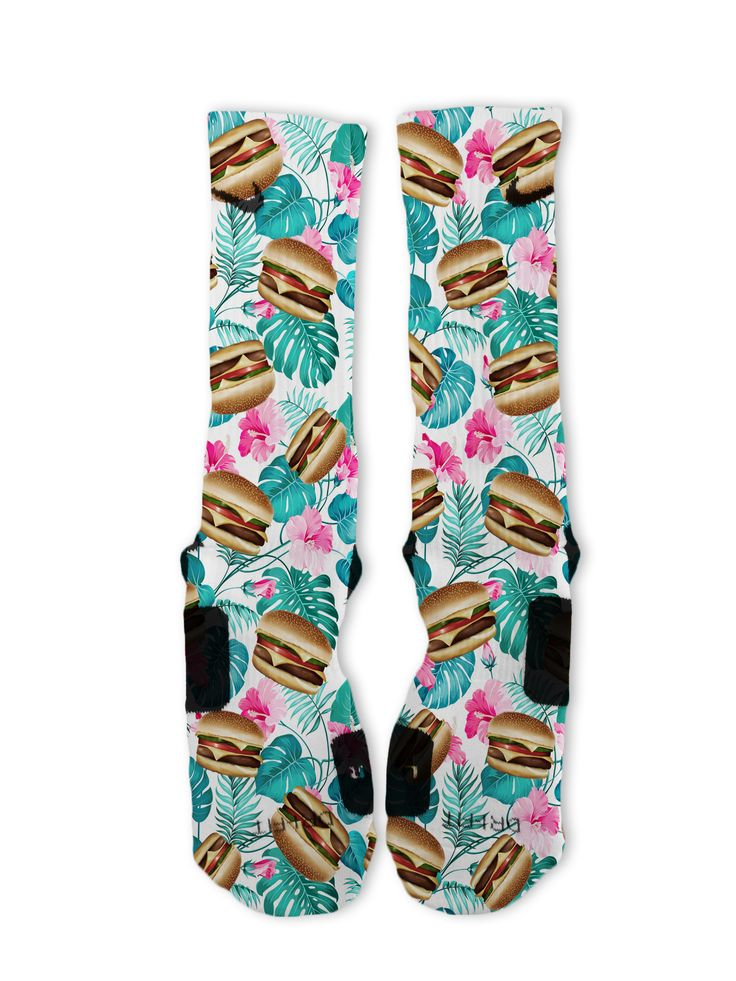 Tropical Burgers Custom Nike Elite Socks